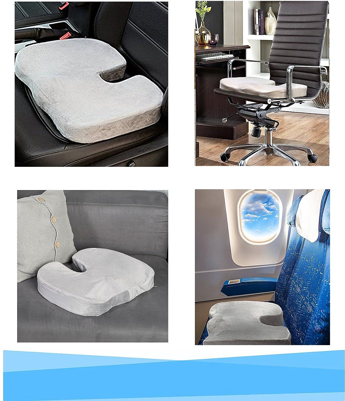 Cojin Ortop/édico Coxis para silla y asiento Cojin Antiescaras para Coxis Cuida de tu salud hernias hemorroides Alivia el dolor y corrige la postura de Espalda y Lumbar