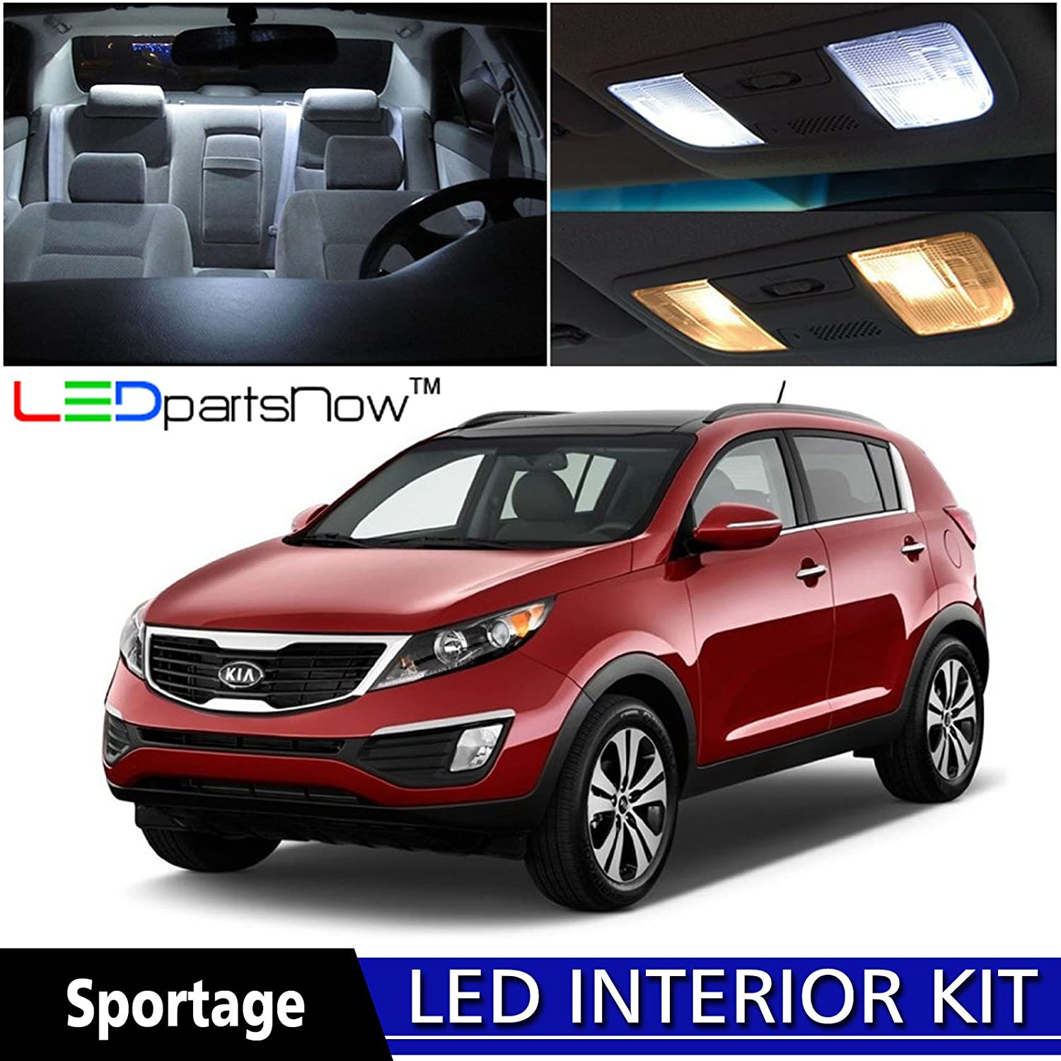 Amazon ledpartsnow 2010 2015 kia sportage led interior lights amazon ledpartsnow 2010 2015 kia sportage led interior lights accessories replacement package kit 3 pieces white automotive sciox Image collections