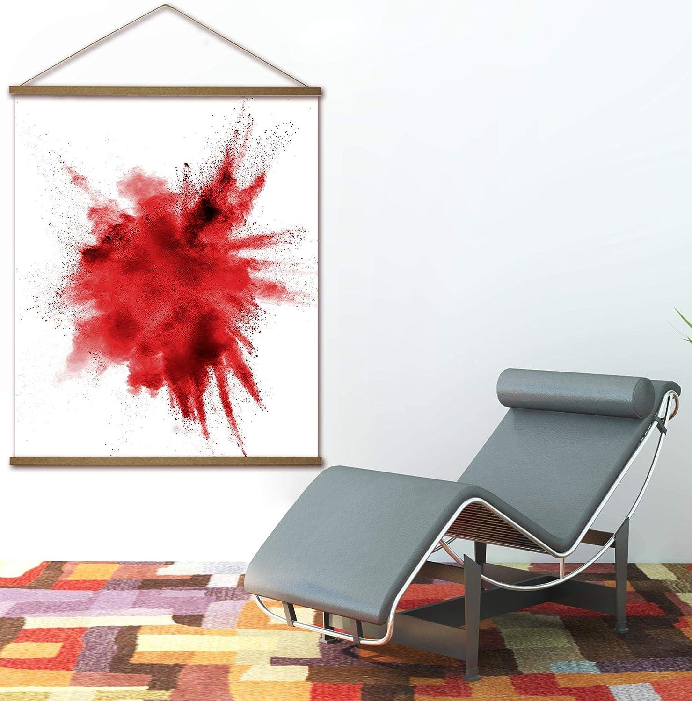 Close Up Magnetische Posterleiste 2 Poster-Aufh/änger//Posterschienen//Plakatleisten MDF -Natur 31,5 cm