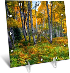 3dRose Aspen Forest in Fall Colors - Desk Clocks (dc_335027_1)