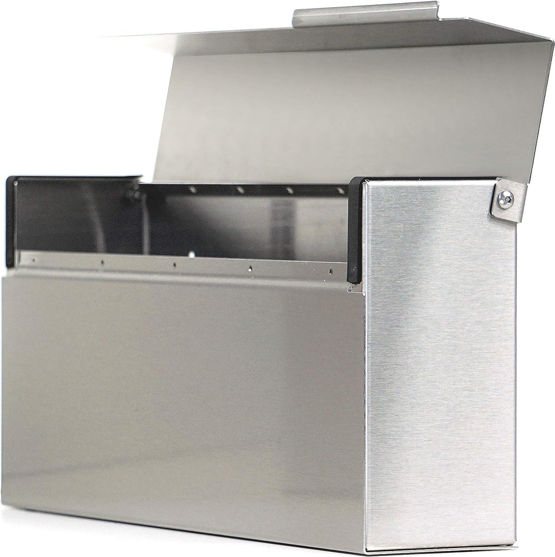 Modern Mailbox Dark Bronze Powder Coated Vsons Design Louis DB Wall-Mount Mailbox