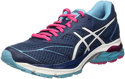 Asics AW16 Womens Gel Pulse 8 Running Shoes - Cushion - Black/Pink - UK