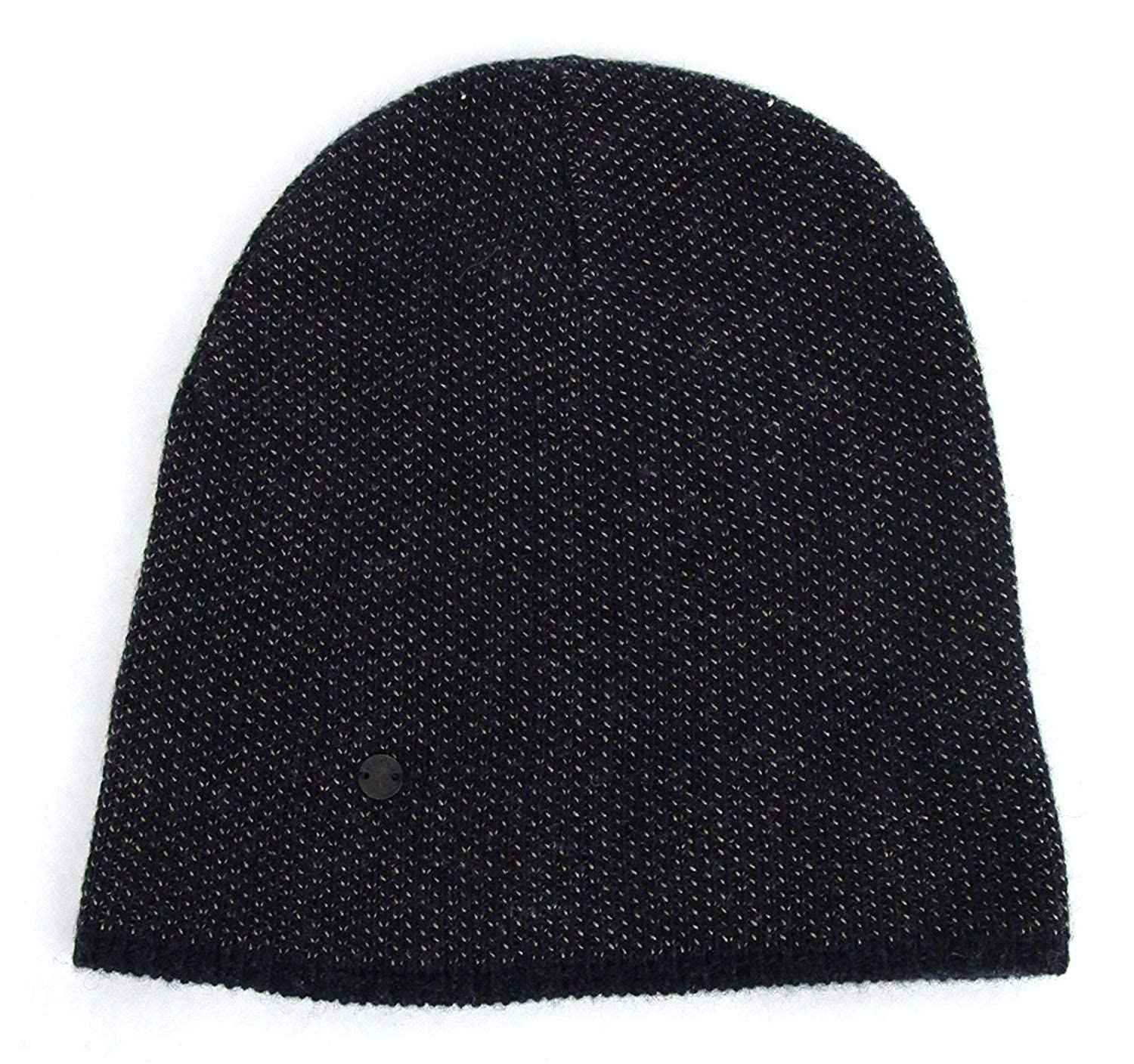 2fbb66516be Amazon.com  Gucci Unisex Dark Blue Wool Cashmere Cotton Beanie Hat with  Logo 352350 4079  Clothing