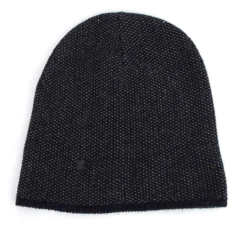b3a3c460061 Amazon.com  Gucci Unisex Dark Blue Wool Cashmere Cotton Beanie Hat with  Logo 352350 4079  Clothing