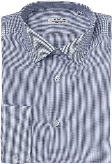 Arrow - Camisa (tamaño pequeño), diseño de cuadros, color azul marino azul marino 43: Amazon.es: Ropa y accesorios