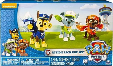 Oferta amazon: PAW PATROL 6024061- Paquete de figuras de acción Pack Pup de 3 - Versión 2 (Chase, Rocky, Zuma)