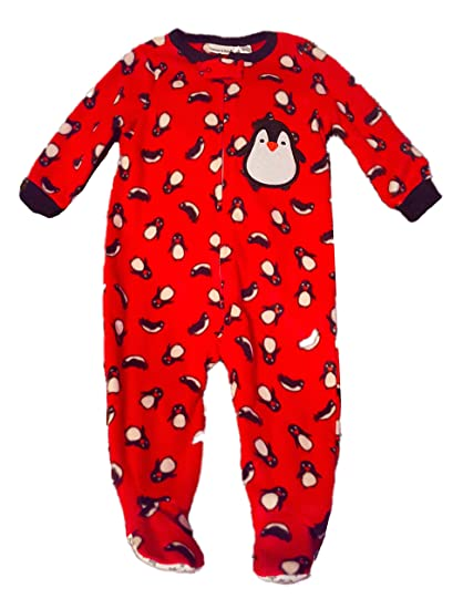 fdc3298ab Amazon.com  Standard Blues Baby Boys  Penguin Print Footed Blanket ...
