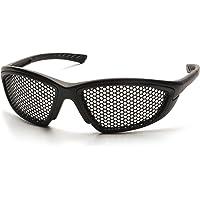 Pyramex Safety Trifecta Eyewear, Black Frame, Punched Steel Lens