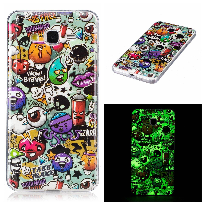 Meet de Slim de Protection Té lé phone Case pour Samsung Galaxy Grand Prime G530 Bumper Case Coque Slim TPU Transparent Silicone Housse Etui - campanule Me-7614