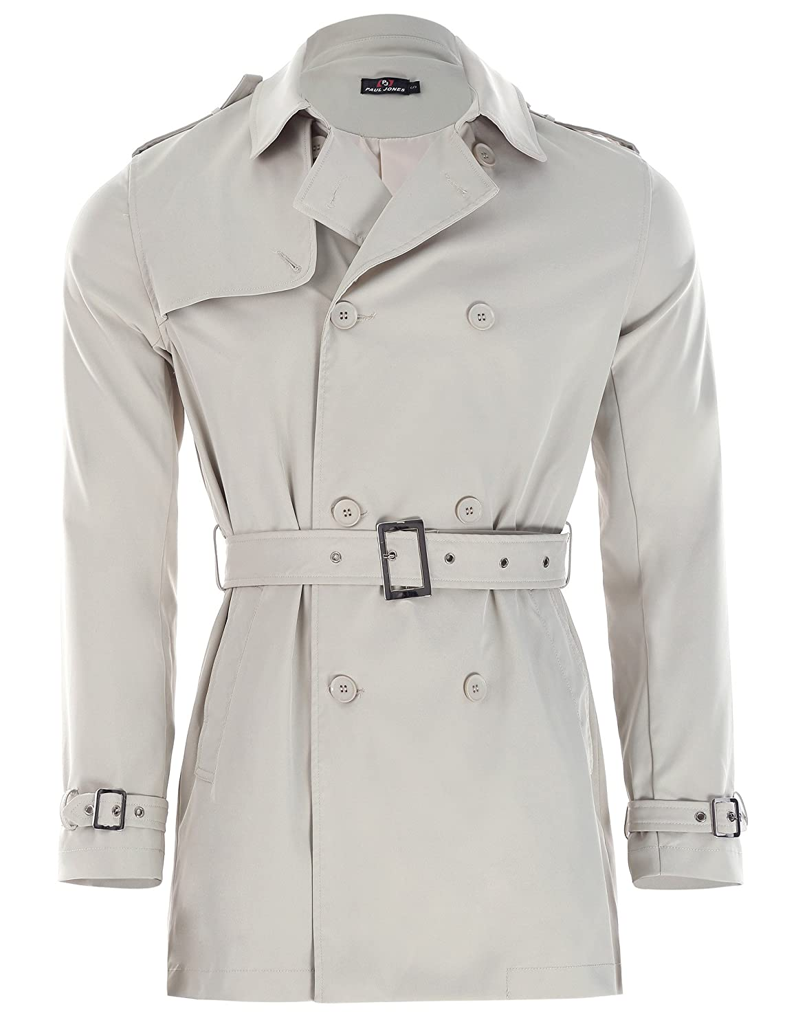 e6a7f2f4e16 Fashion lapel collar   double-breasted trench coat windbreaker jacket. Two  open side-entry pockets