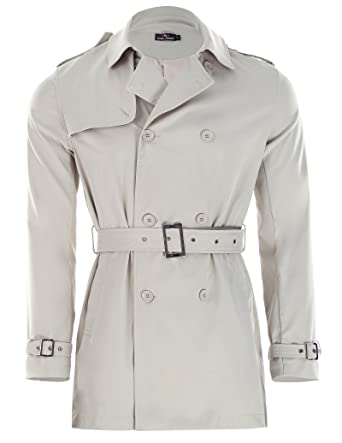 3d54c0f9d374 Men s Fashion Slim Fit Double-Breasted Winter Long Trench Coat Jacket