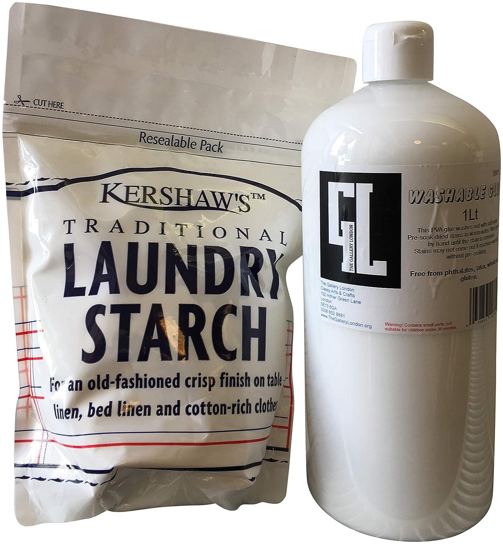 La galleria Londra colla vinilica (litro) Plus Kershaws lavanderia amido attivatore per Slime kit, non tossiche lavabili colla Plus Slime ricetta The Gallery London and Kershaws