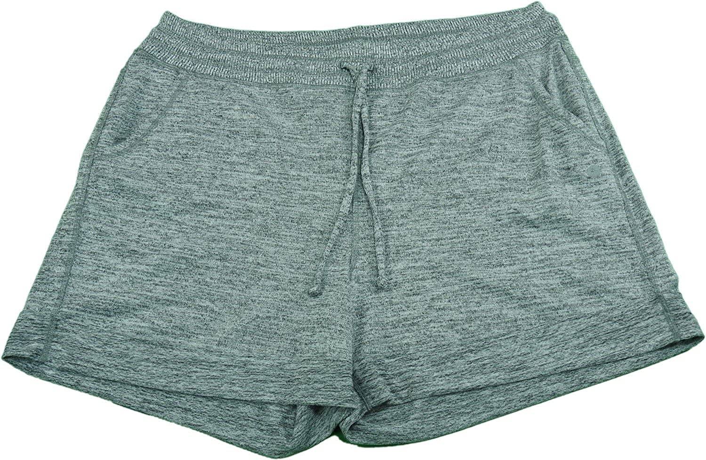 Active Life Ladies Athletic Shorts (Small, Grey/Heather Grey)