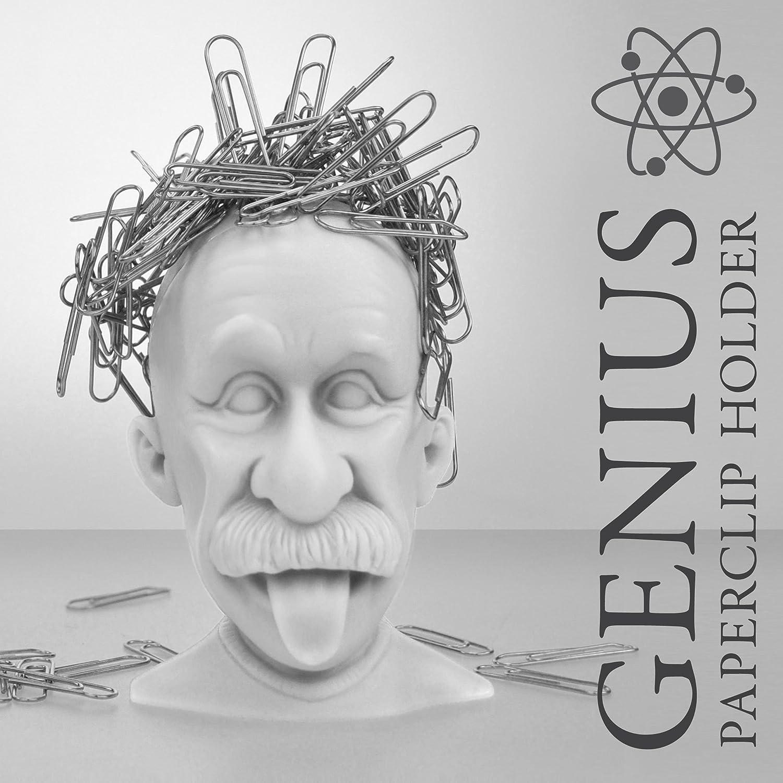Grigio Just Mustard M16028 Fermaclip Magnetico a Forma di Einstein