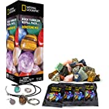 Raw Gemstone Refill Kit for Rock Tumbler by National Geographic