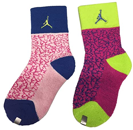 huge selection of c1c79 08237 Image Unavailable. Image not available for. Color  Jordan Retro Elephant  Print 2-Pack Crew Socks ...