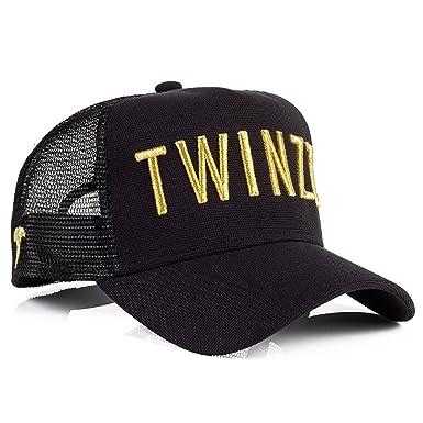 Twinzz TMT1018 3D Mesh Trucker Baseball Cap - Black   Gold One Size Black 901ec640da
