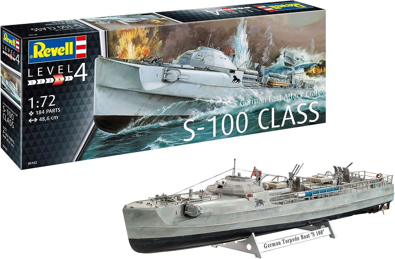 Revell-German Fast Attack Craft S-100, Escala 1:72 Kit de Modelos de plástico, Multicolor, 1/72 05162 5162