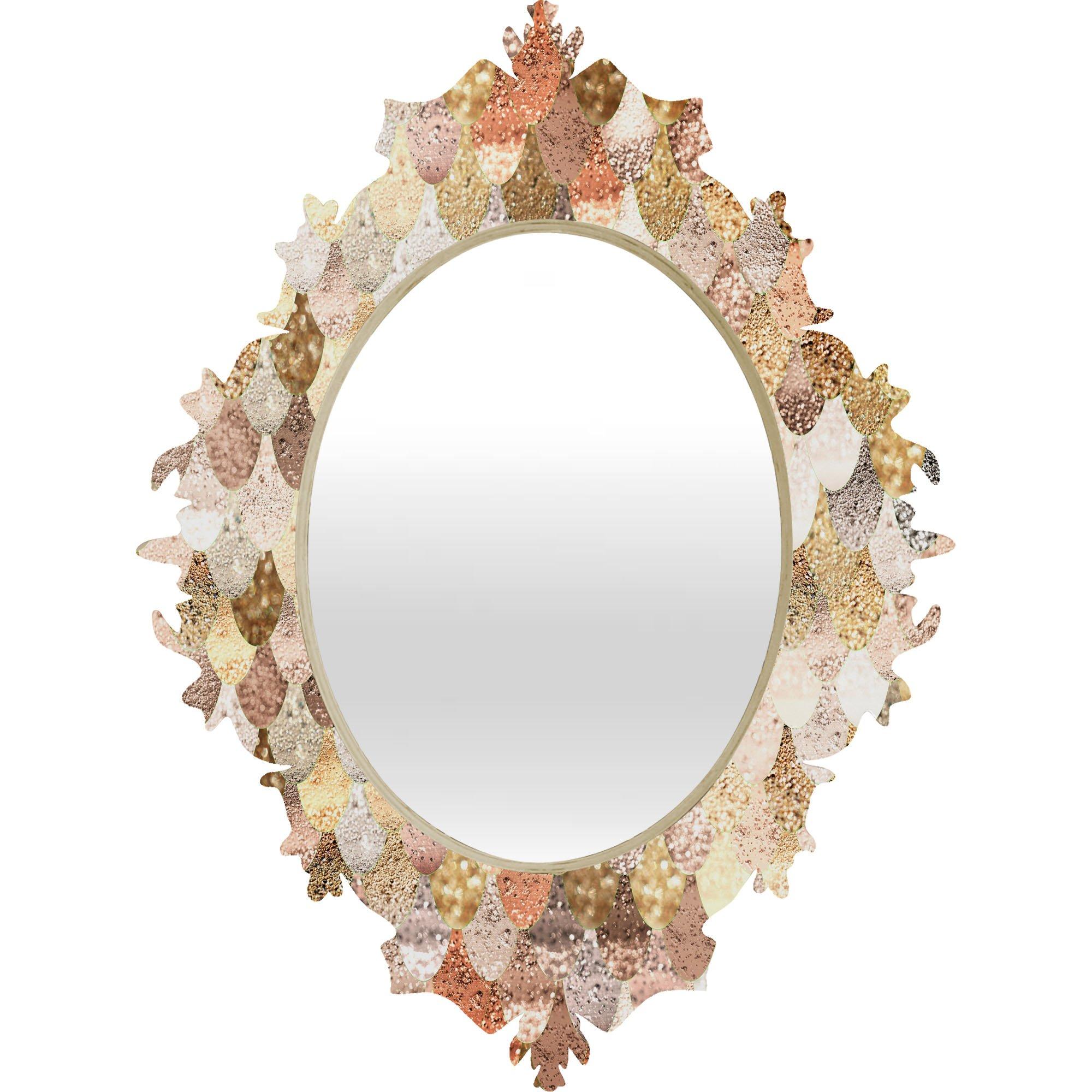 Deny Designs Monika Strigel Really Mermaid Gold Baroque Mirror, 19 x 14