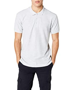 Fruit of the Loom SS033M, Polo Homme, Gris (Heather Grey), XXX-Large