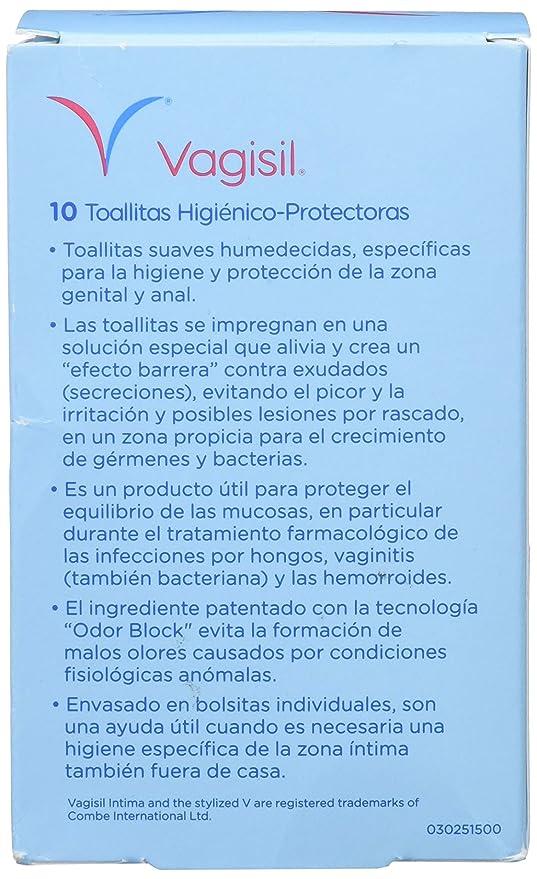 Vagisil Toallitas Higiénico-Protectoras, 10 Toallitas: Amazon.es: Salud y cuidado personal