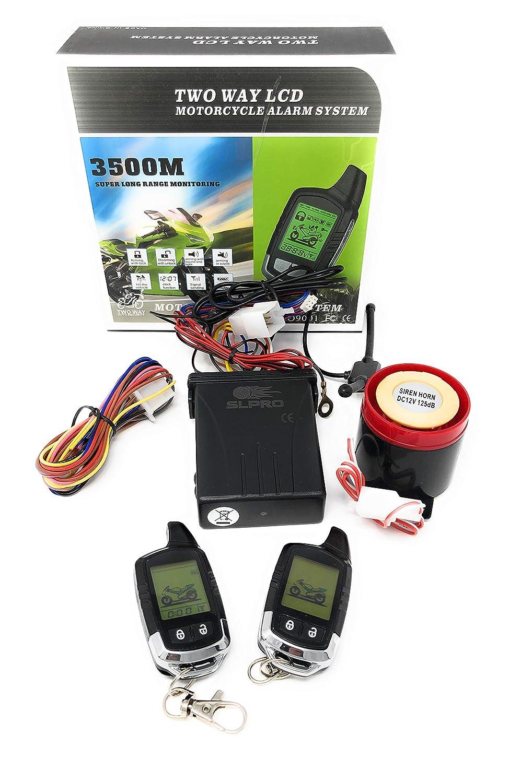 Dispositivo de alarma profesional para moto, uso universal para todas las motos con 12 V
