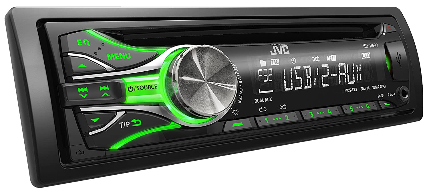 Jvc kd r432 cd usb car stereo system front usb aux input - Jvc Kd R432 Cd Car Stereo With Front Aux Usb Port Cd Mp3 Playback Amazon Co Uk Electronics