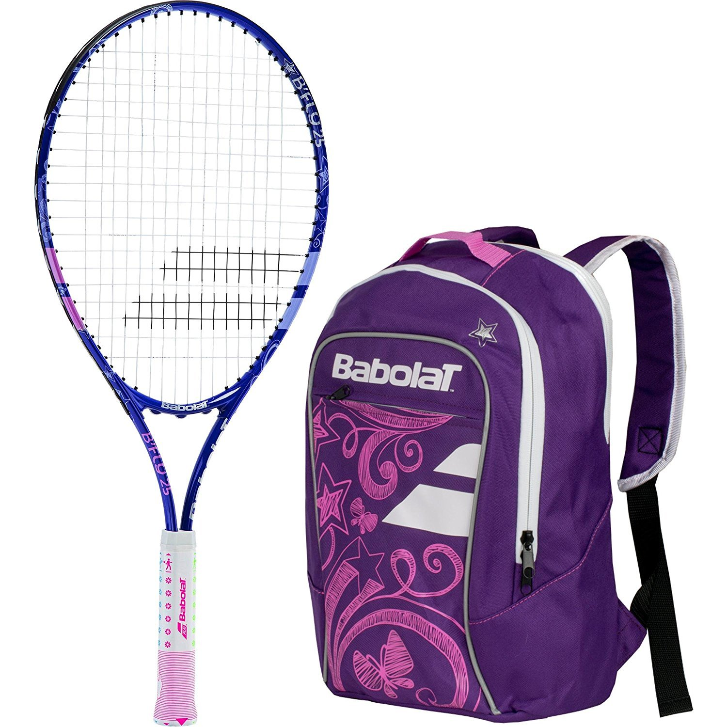 Babolat B'Fly 21'' Inch Child's Tennis Racquet/Racket Kit or Set Bundled with a Purple Junior Tennis Backpack (Best Back to School Gift for Boys and Girls) by Babolat (Image #1)