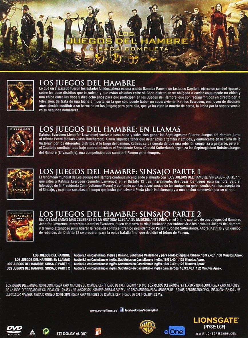 Pack Los Juegos Del Hambre - Saga Completa 2016 DVD: Amazon.es ...
