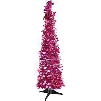 Weihnachtsdeko Lametta.Yuqi 150cm Künstliche Weihnachtsbäume Faltbarer Lametta Kunstbaum