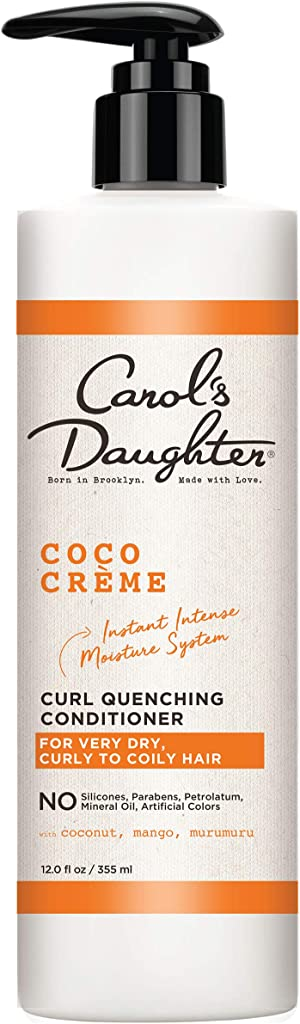 Curly Hair Products by Carol's Daughter, Coco Creme Curl Quenching Conditioner for Very Dry Hair, with Coconut Oil, Paraben Free Hair Conditioner for Curly Hair, 12 Fl Oz (Packaging May Vary)