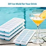 OMorc Ice Cube Trays 4 Pack [Upgraded