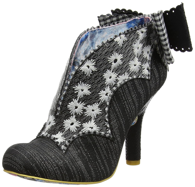 Irregular Choice Toasted Teacake - Zapatos de Tacón con Punta Cerrada Mujer 36 EU|Negro (Black/White F)