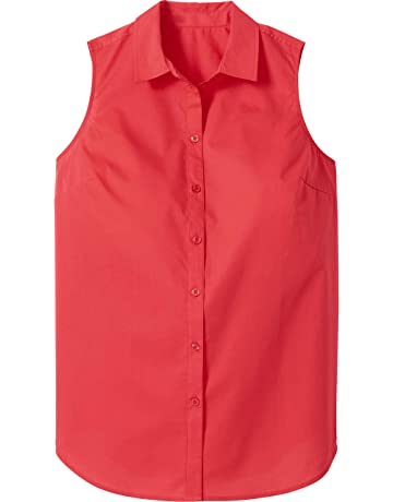 30508a70151 Woman Within Women's Plus Size Perfect Button Down Sleeveless Shirt