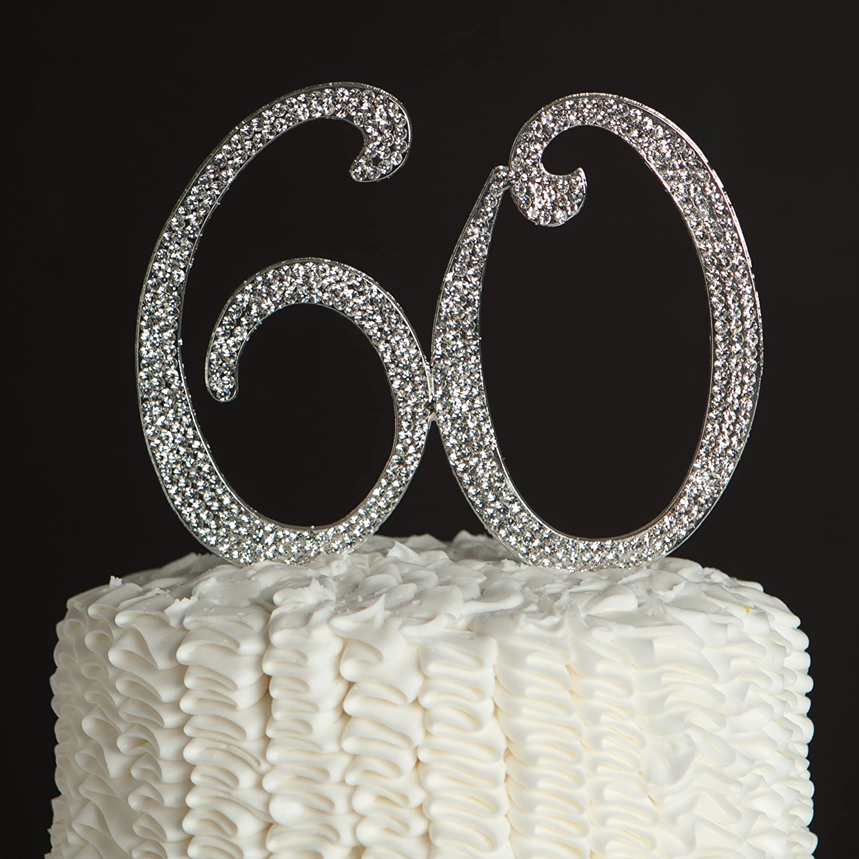 Amazon Ella Celebration 60 Cake Topper for 60th Birthday or