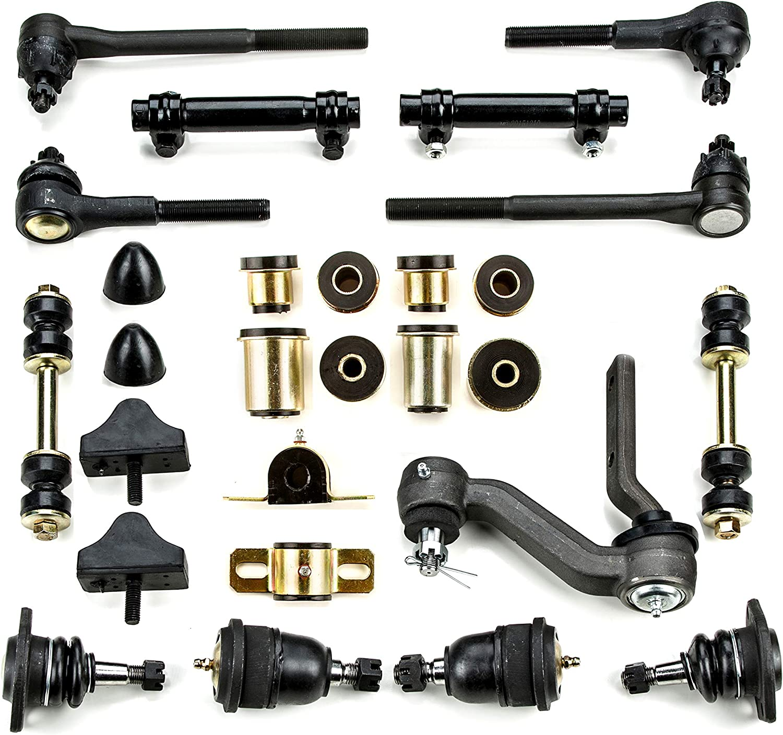 27 Piece Kit Andersen Restorations Black Polyurethane Front End Suspension Master Rebuild Kit Compatible with Pontiac Firebird//Trans Am OEM Spec Replacements