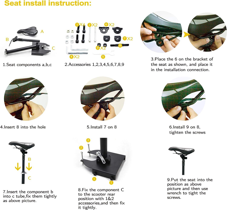 Un asiento para patinete electrico xiaomi, cecotec o cualquier marca se monta muy fácil