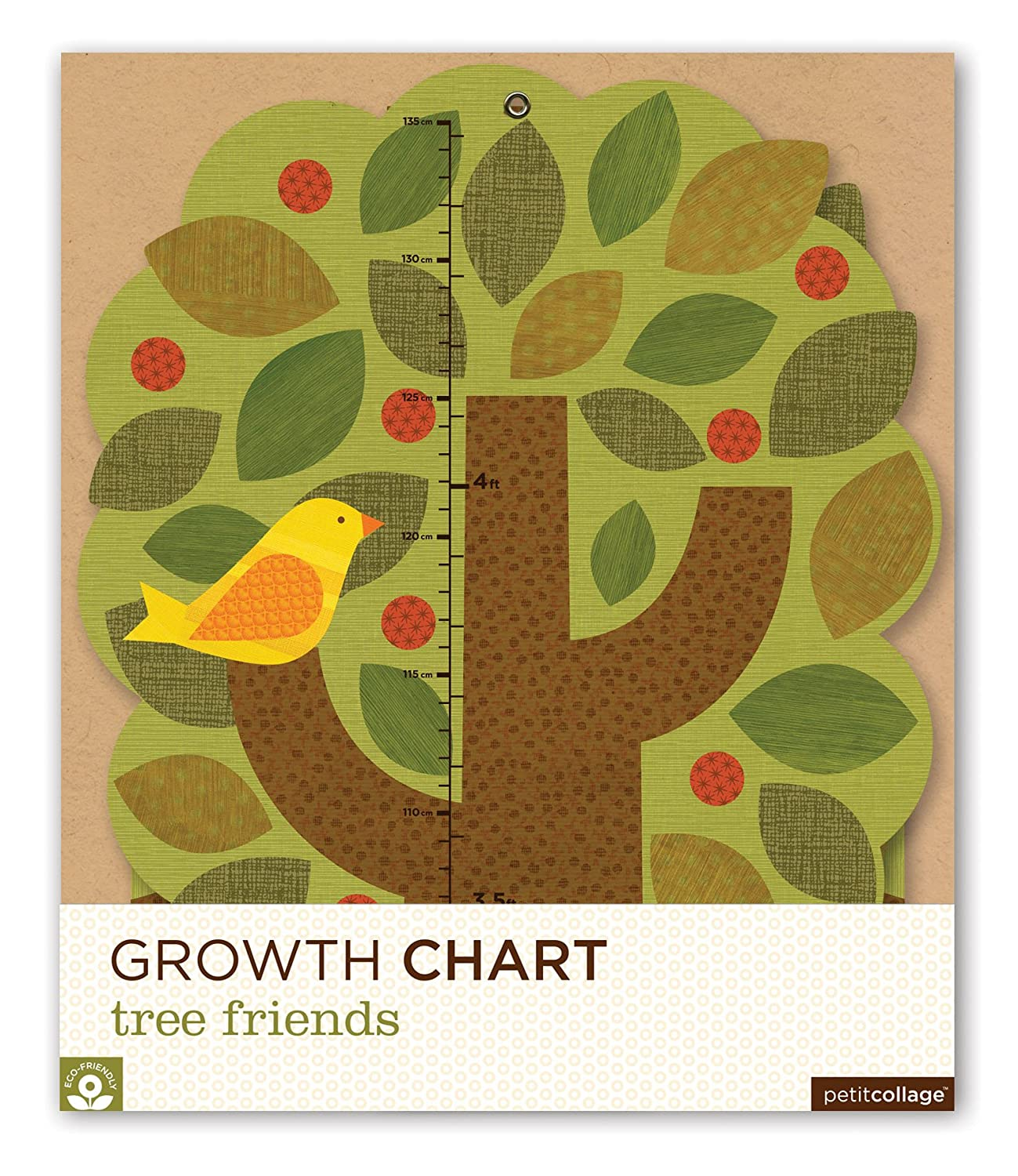 Amazon Petit Collage Folding Growth Chart Tree Friends