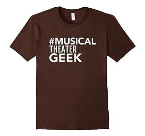 Men's Musical Theater Geek T-Shirt 3XL Brown