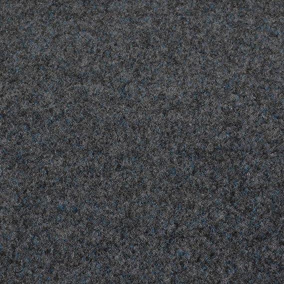 Grau 410 cm x 200 cm, Grijs 901 Kunstrasen Fertigrasen in 3 Farbig mit Drainagenoppen