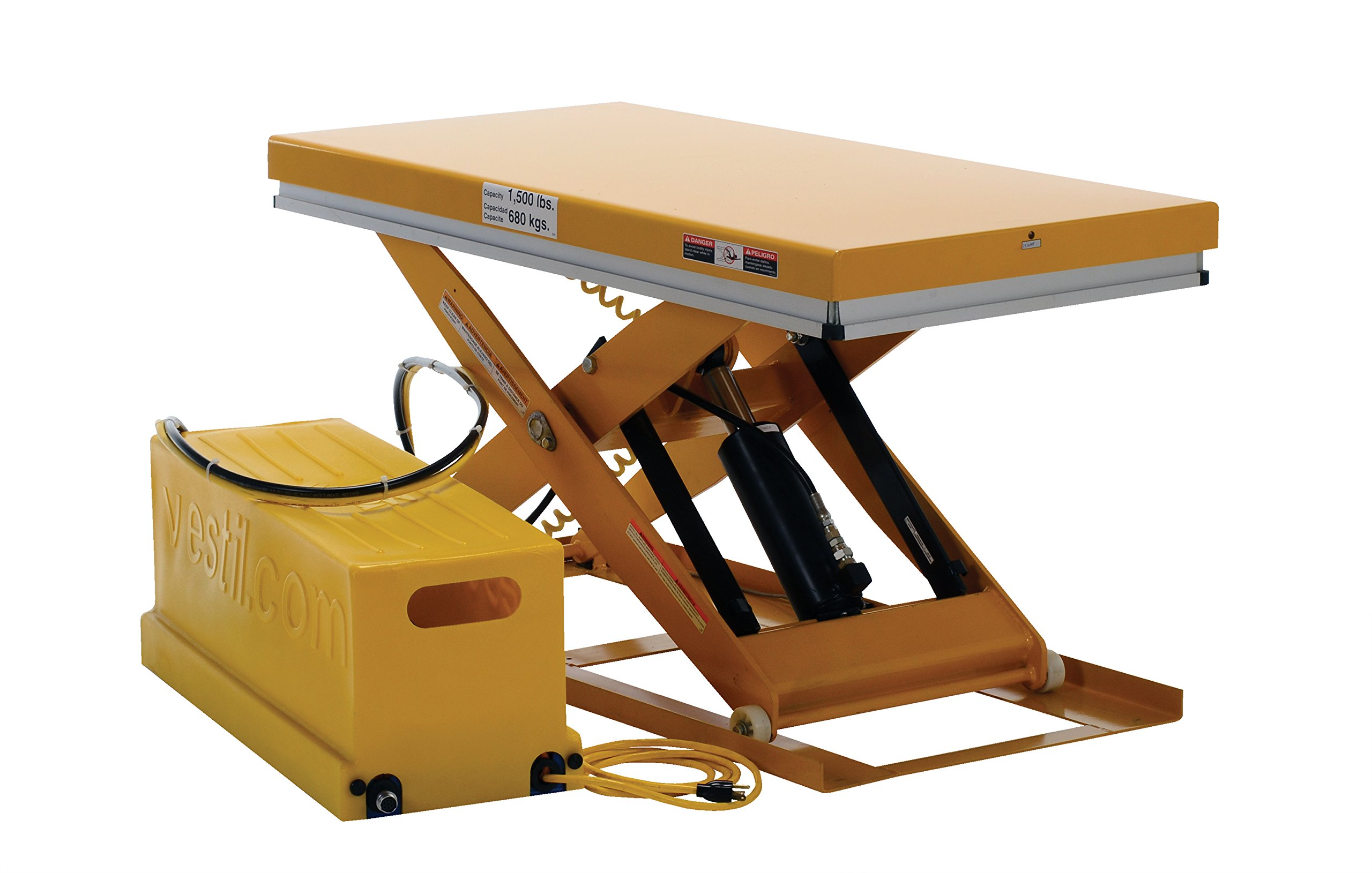 Vestil EHLT-WS-2448-1.5-36 Work Station Scissor Lift, 1500 lb., 7'' Height
