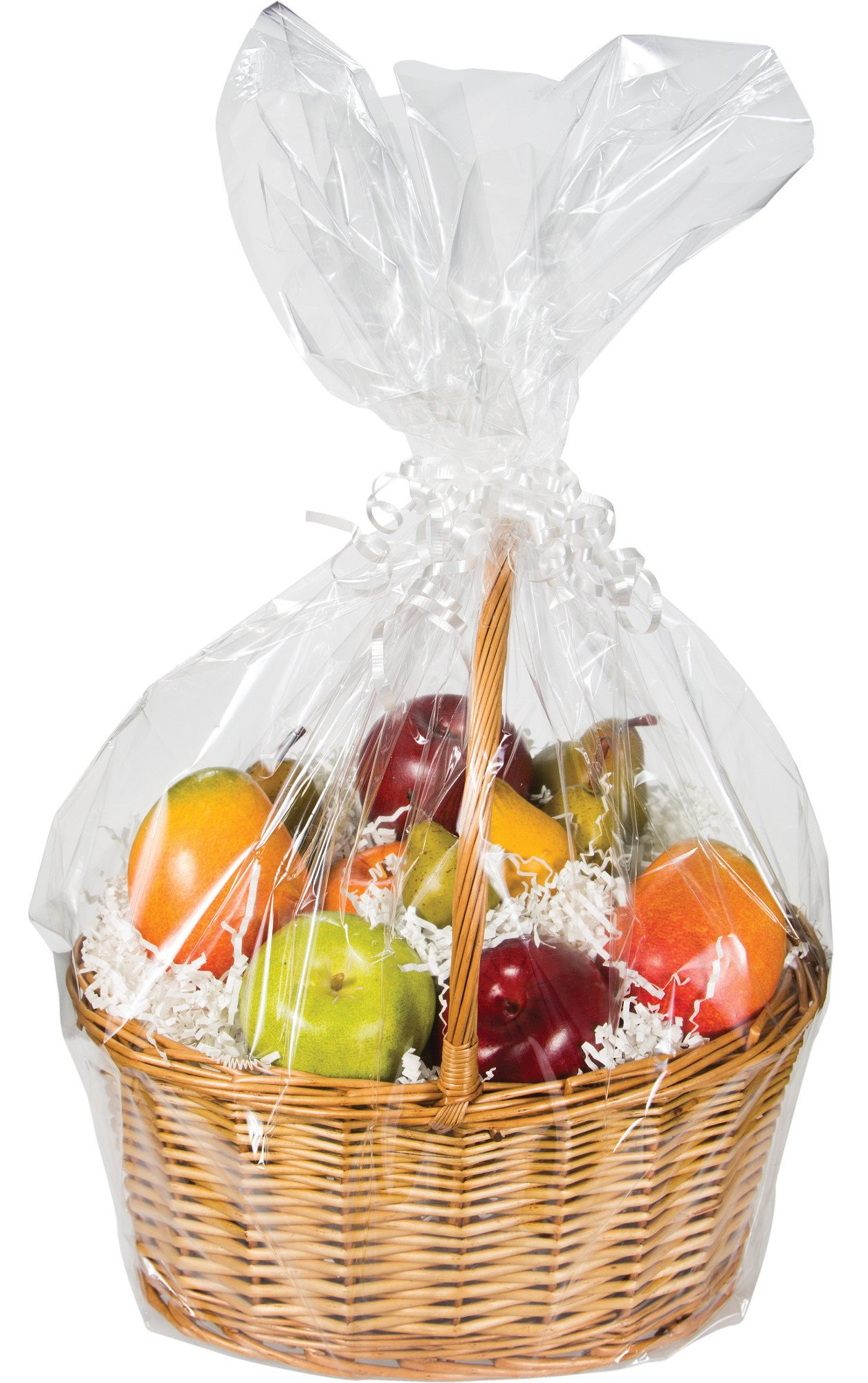 Creative Converting Basket Bags, Clear, 12-Count