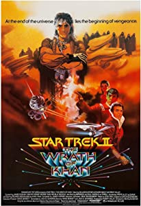 Star Trek II The Wrath of Khan Movie Poster 24 x 36 Inches Full Sized Print Unframed Ready for Display