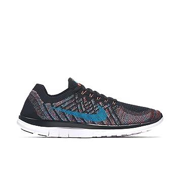 wholesale dealer 65d8e b6c40 Nike Free 4.0 Flyknit, Chaussures de Running Homme, foncé/Blanc (Noir/