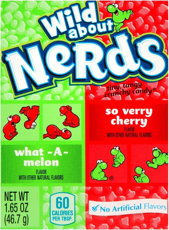 Wonka Nerds Wild Cherry and Watermelon Box 46.7g: Amazon.es: Hogar