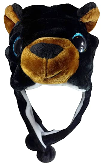 Critter Cap Big Eye Plush Animal Hat with Ear Flaps That Button Under the  Chin ( dc80605e192d