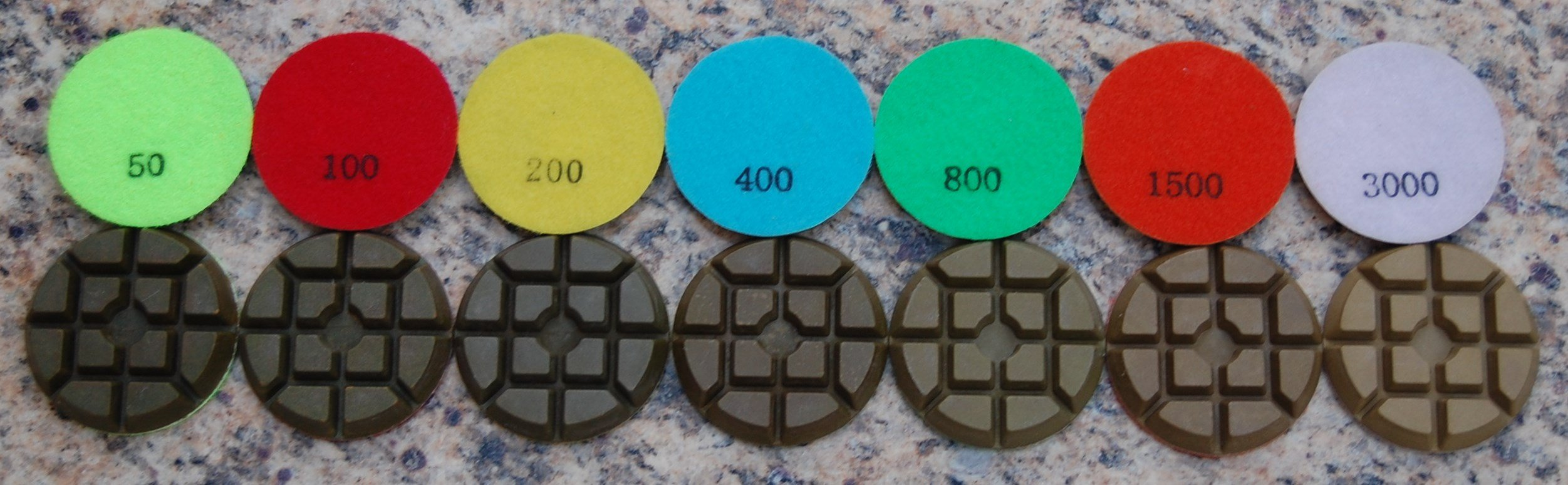 12mm Thick 3'' Diamond Floor Polishing Pads Type A, Any 48
