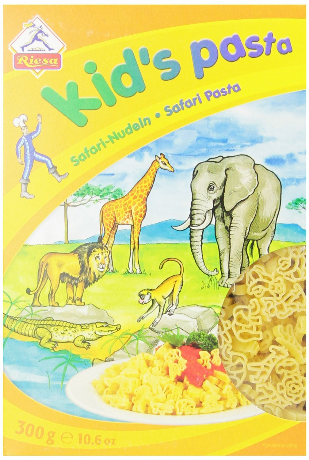 Riesa Shaped Pasta in Box, Safari Animal, 10.60 Ounce (Pack of 3)