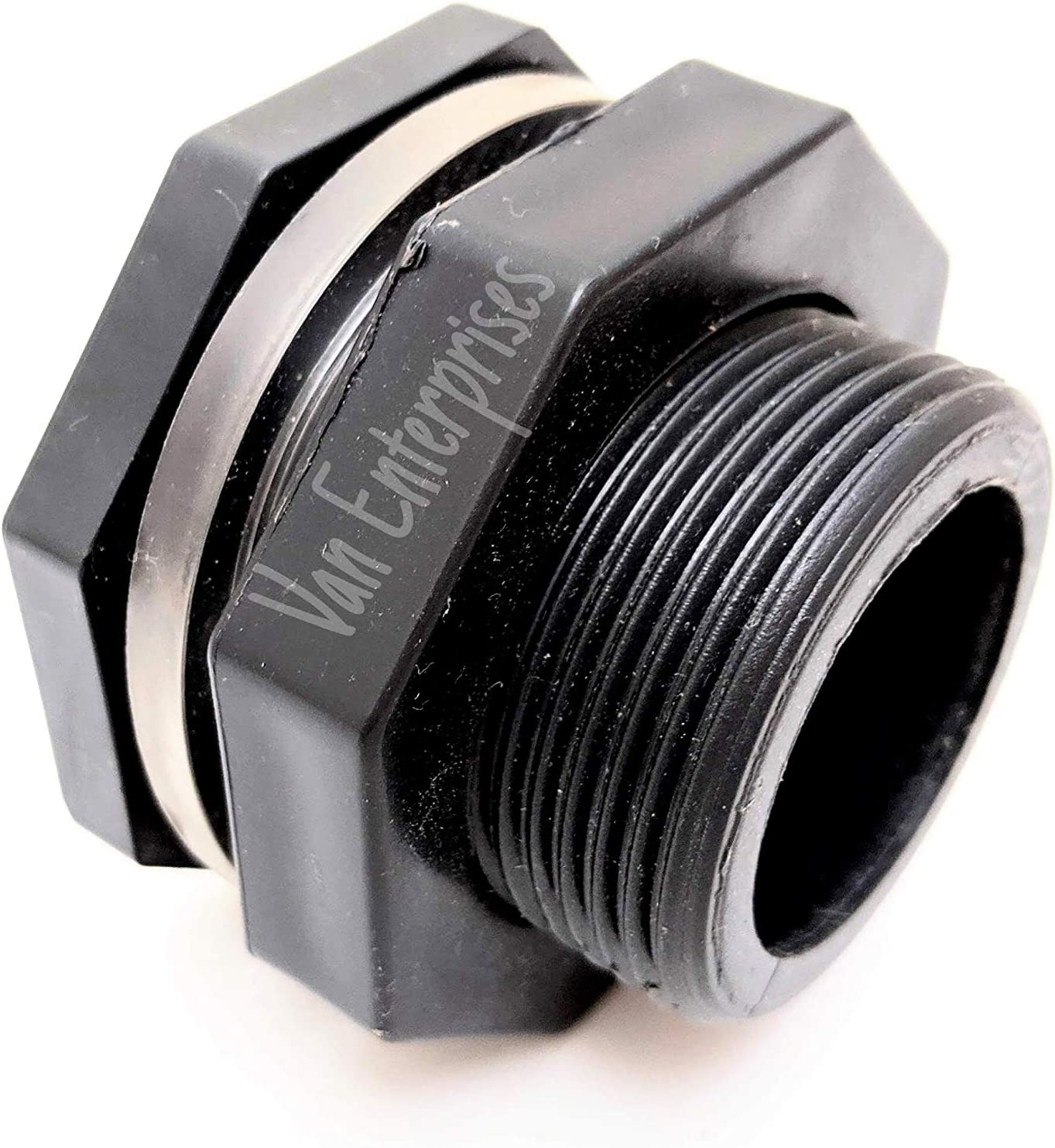 "1"" PRO SERIES HD Bulkhead [SOCKET ENDS] for Rain Barrels, Aquariums, Aquaponics, Water Tanks 81r4A2BW9jUL"