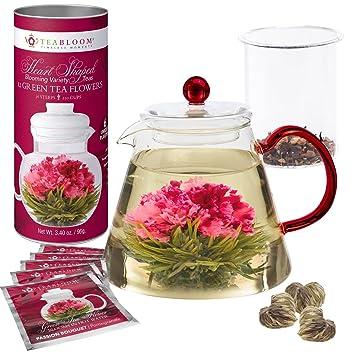 Amazon.com: Teabloom Amore Flowering Teapot Gift Set ...